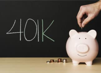401k Coins In Piggy Bank Chalkboard Savings Retirement Investment