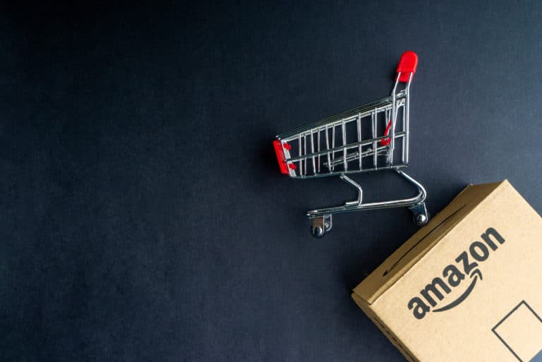 Amazon Online Shopping Cart Box Shipped