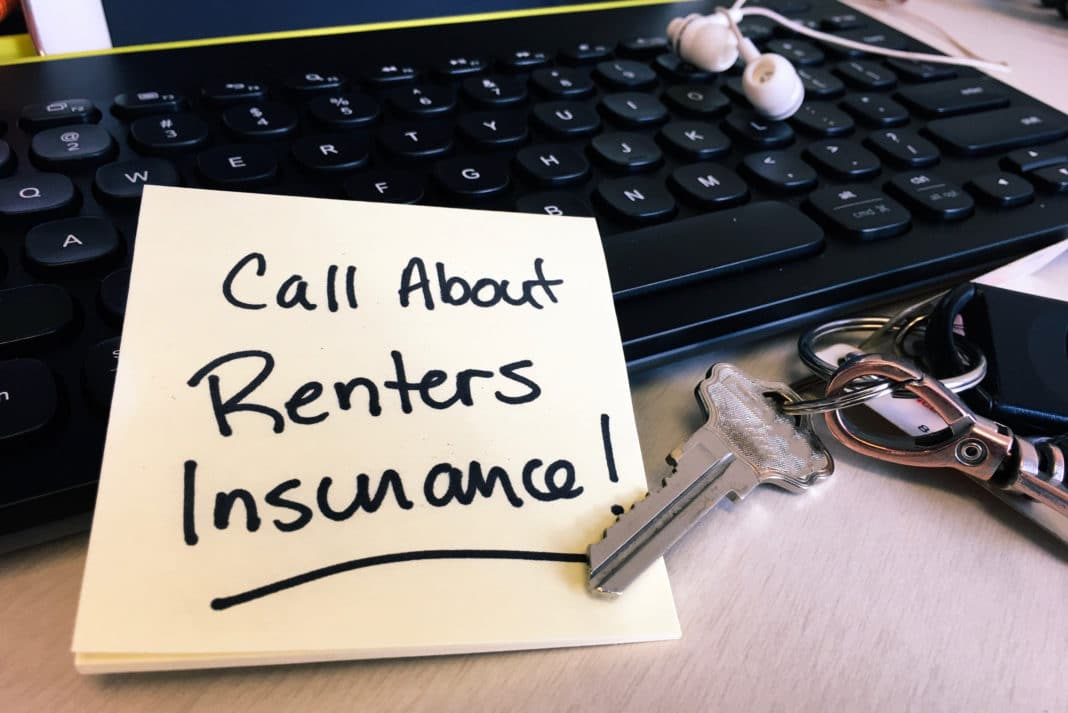 Call About Renters Insurance Keys Laptop