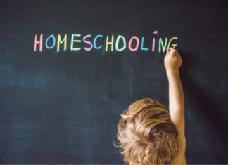 Homeschool Homeschooling Chalkboard Colorful Chalk Toddler