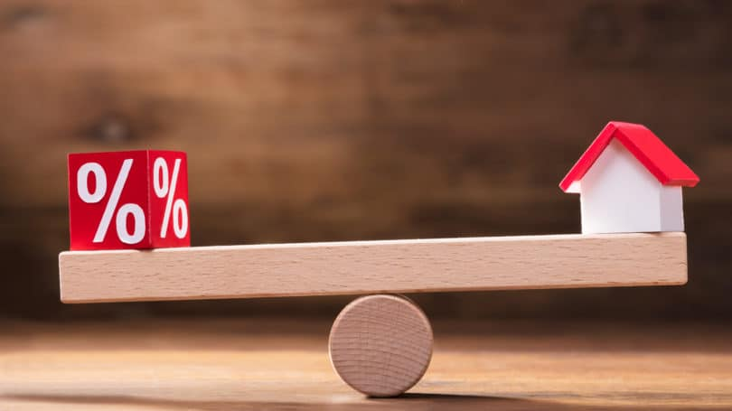Interest Rate Percentage Balancing Seesaw House