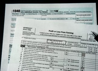 Irs 1040 Form Tax Schedule F Farming