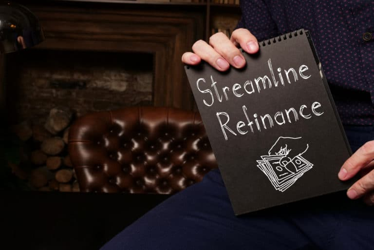 Streamline Refinance Is Shown On A Conceptual Photo Using The Text
