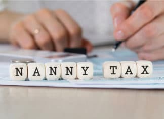 Nanny Tax Block Letter Dice