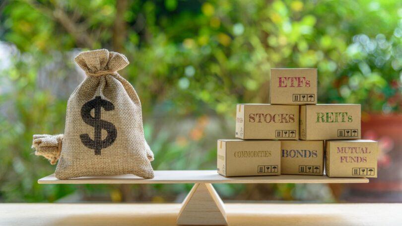 Portfolio Management Asset Allocation Dollar Concept Diversify