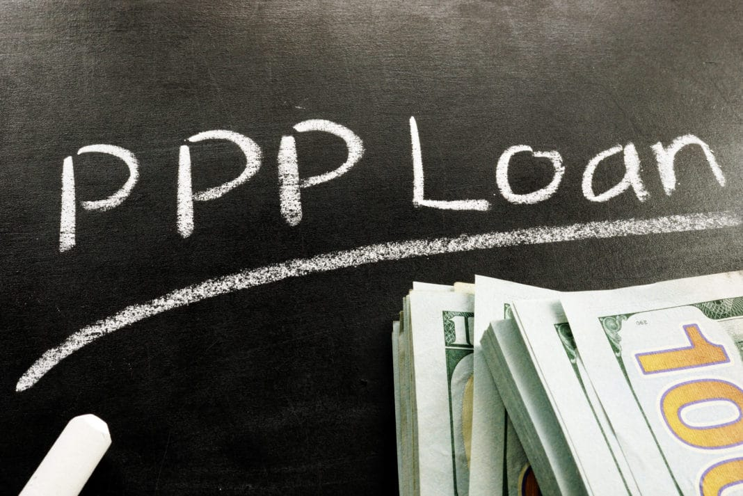 Ppp Loan Chalkboard Chalk Cash