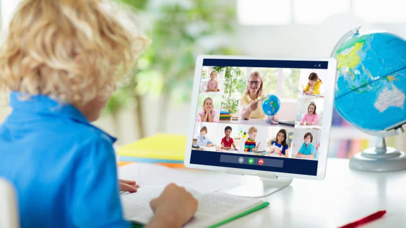 Remote Learning Online Computer Kids School Education