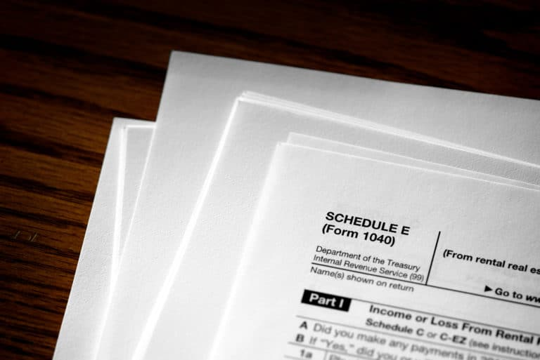 Schedule E Irs Form 1040