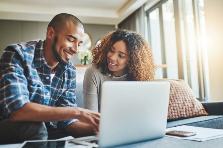 couple managing their finances together