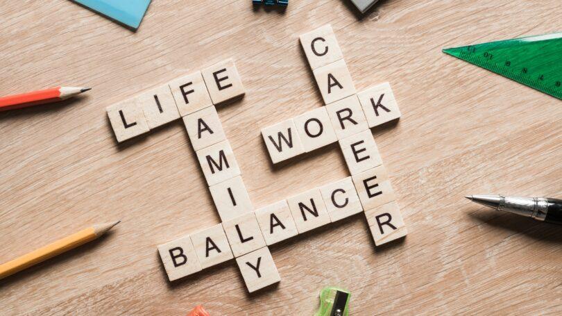Work Life Balance Career Family Scrabble Letters