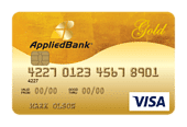 Applied Bank Secured Visa Gold Card Art