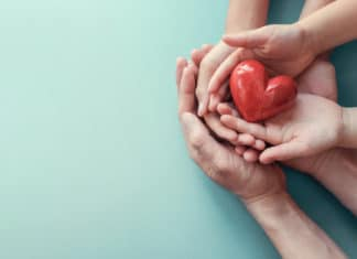 Hands Holding Heart Hands Donation
