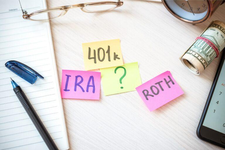Post Its 401k Ira Roth Question Mark Retirement Tax Free