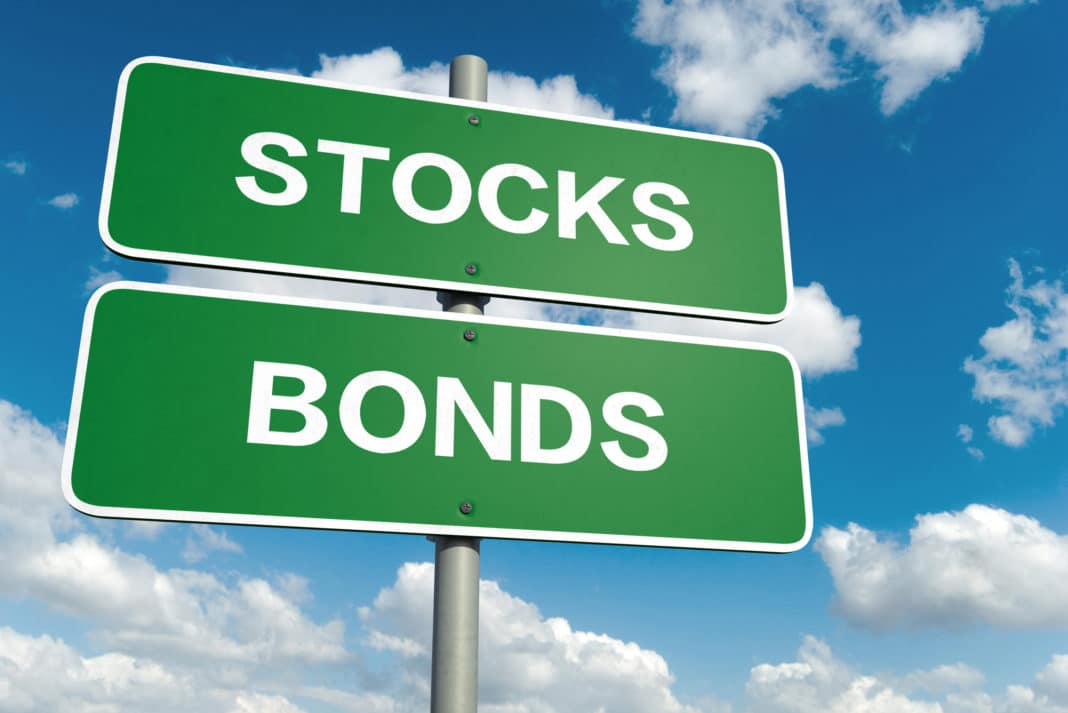 Stocks Bonds Sign Road Sky