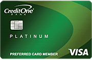 Credit One Bank Platinum Visa Unsecured Card Art