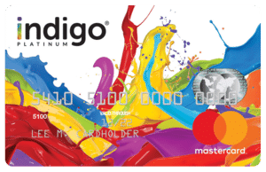 Indigo Unsecured Mastercard Card Art