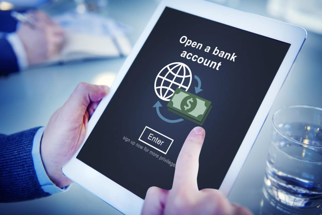 Open Bank Account Banking Tablet Financial Planning