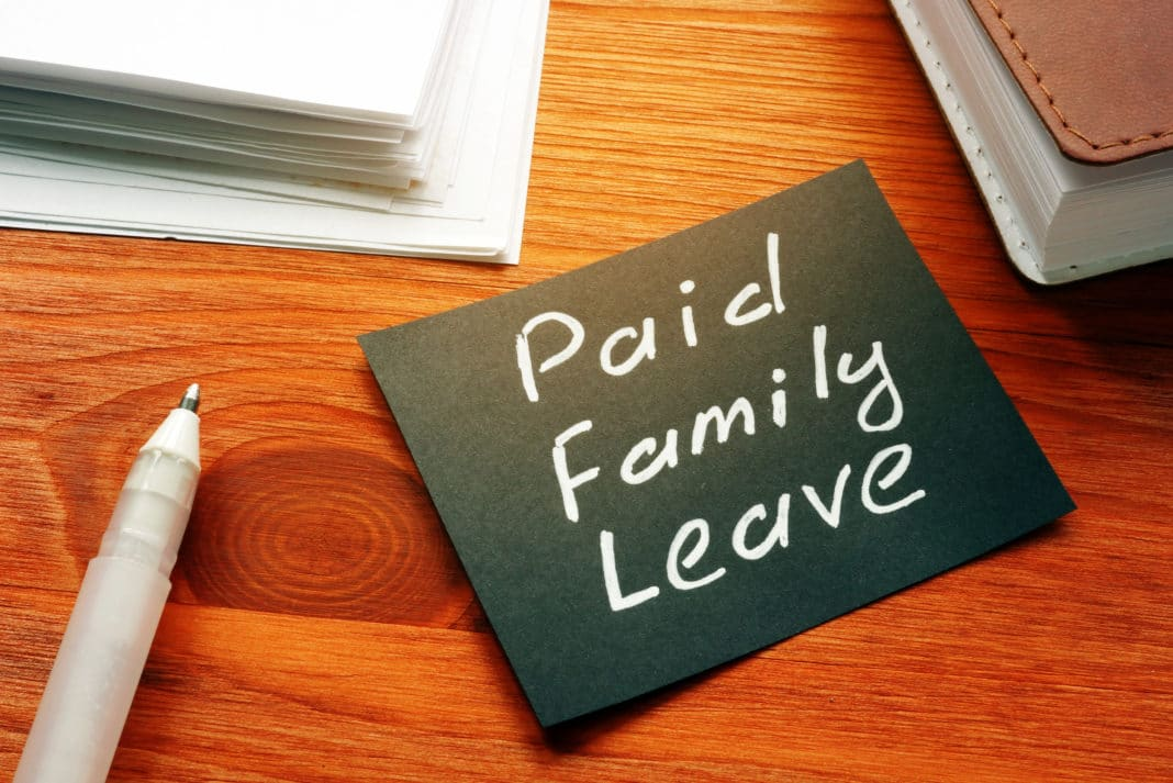 Paid Family Leave Post It Desk