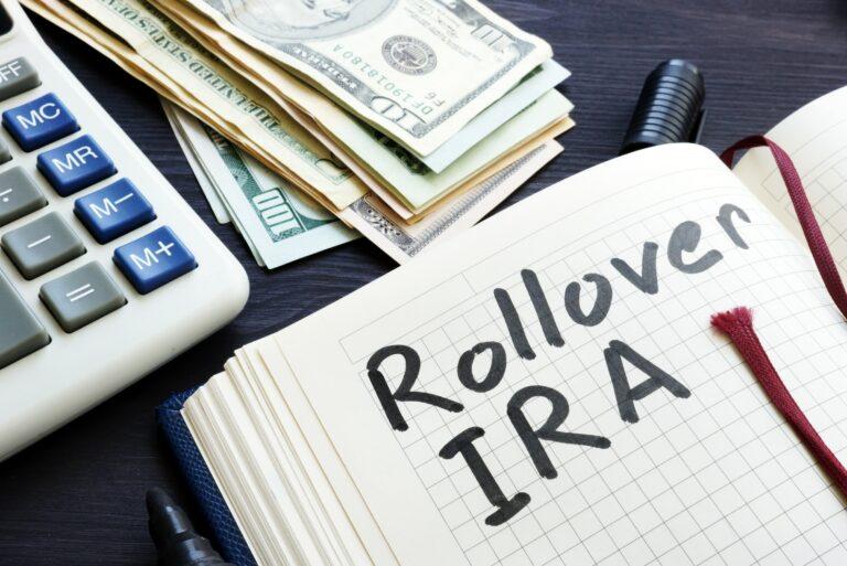 Rollover Ira Plan Cash Retirement Handwritten Calculator