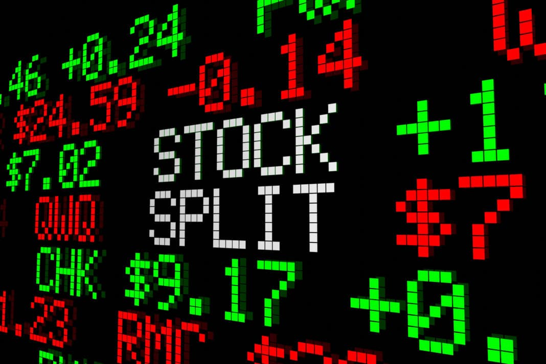 Stock Split Market Ticker