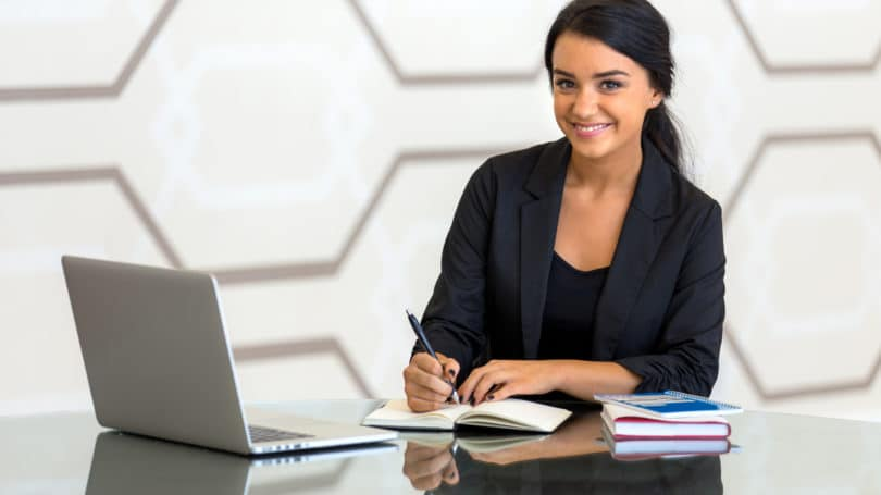 Young Office Assistant Woman Business Consultant Finance