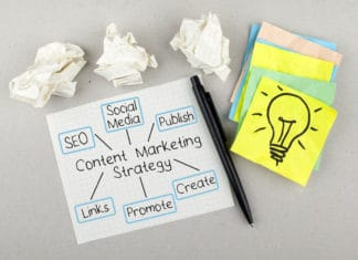 Content Marketing Strategy Ideas Plan Brainstorming Lightbulb