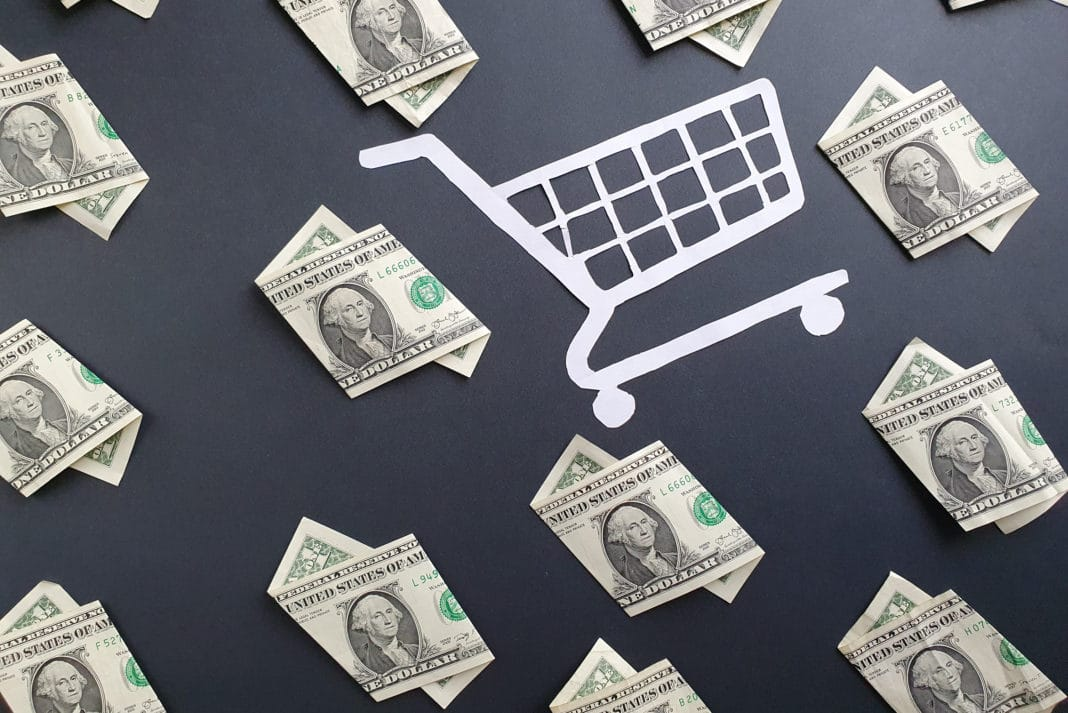 Dollar Bills Shopping Cart Online