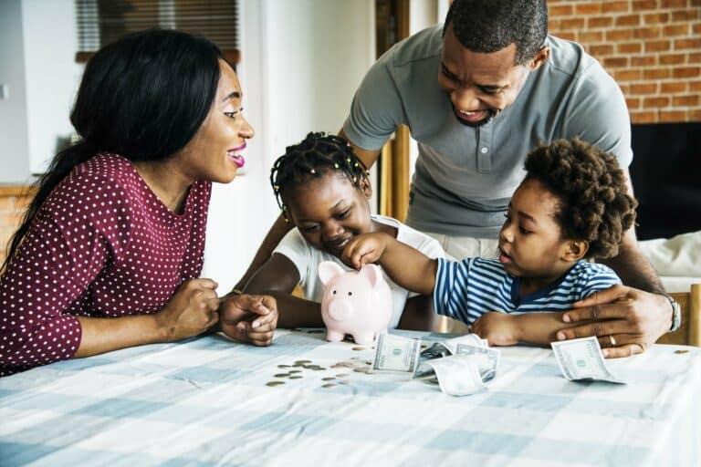 Family Piggy Bank Money