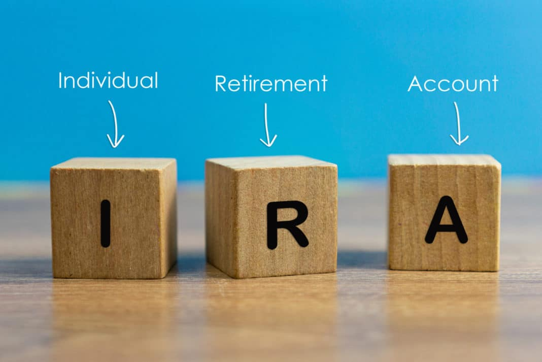 Ira Individual Retirement Account Block Letters