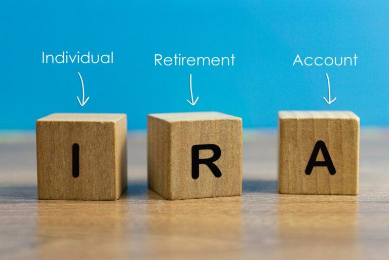 Ira Individual Retirement Account Block Letters
