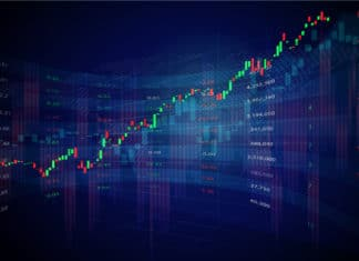 Stock Market Forex Trading Candlestick Graph