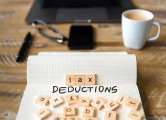Tax Deductions Scrabble Letters Desk