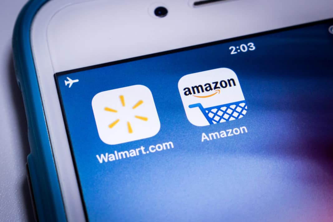 Walmart Amazon Prime Apps Phone Shopping