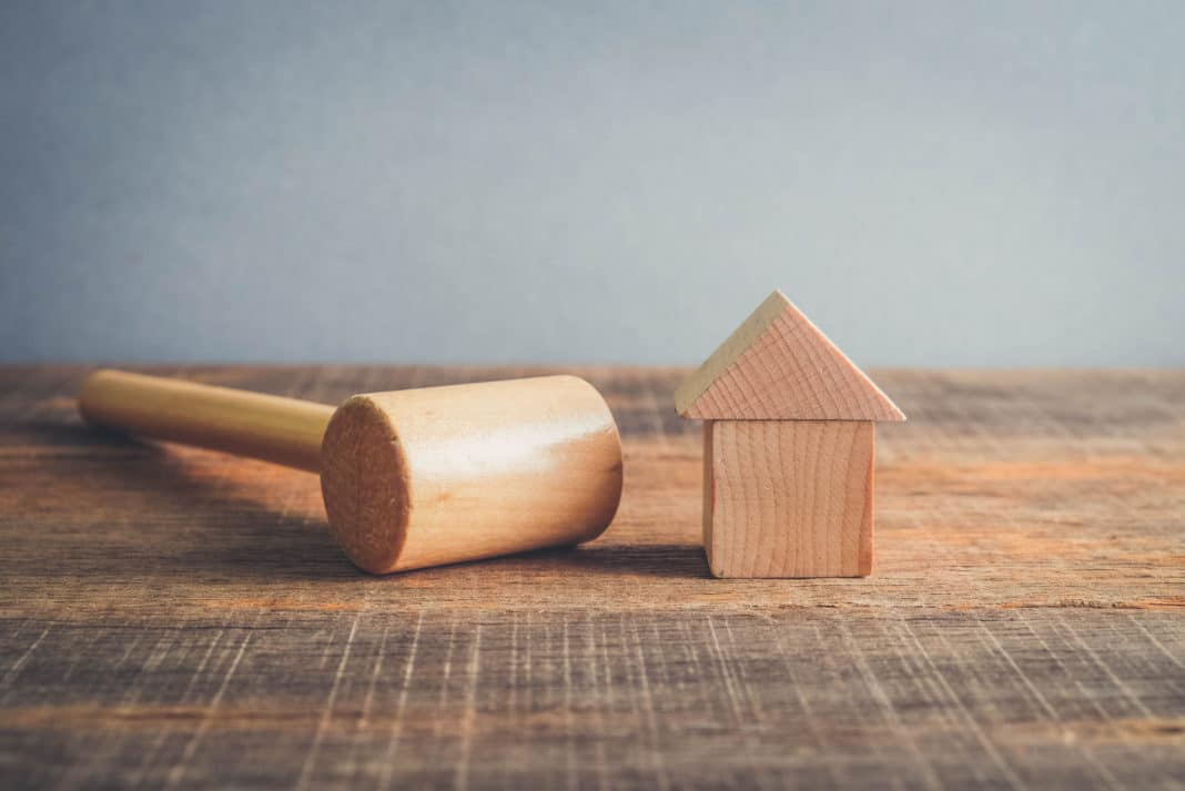 Wooden Gavel House Worldwide Real Estate Concept Fair Housing Rules Act