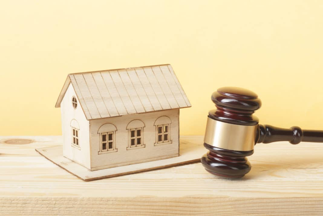 Wooden House Model Gavel Real Estate Fair Housing Act Law