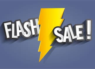 Flash Sale Thunder Vector Illustration