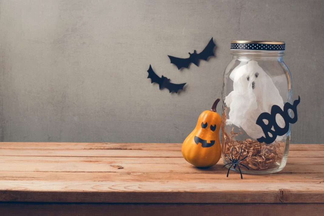 Halloween Decorations Mason Jar Bat Ghost Pumpkin