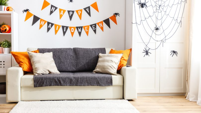 Happy Halloween Decorations Living Room Spiders Indoor