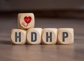 Hdhp High Deductible Health Plan Cubes Letters Dice
