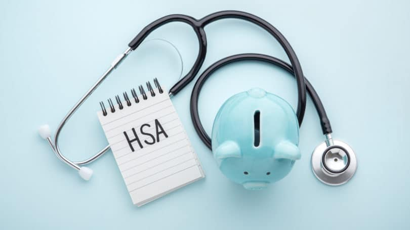 Hsa Health Savings Account Piggy Bank Stethscope Blue