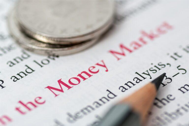 Money Market Fund Definition Words Pen Coins