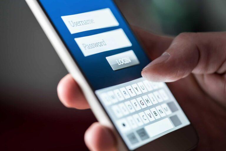 Login Screen App Website Smartphone
