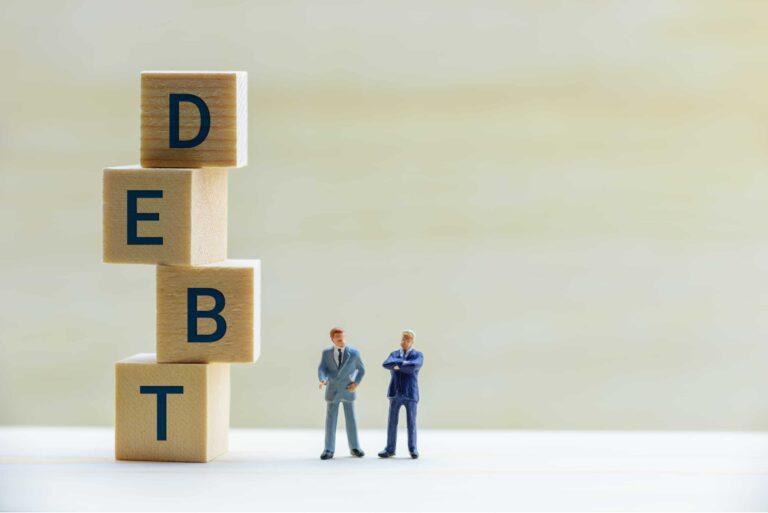 Secured Unsecured Debt Financial Businessmen