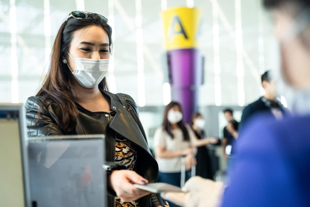 Woman Traveling Airport