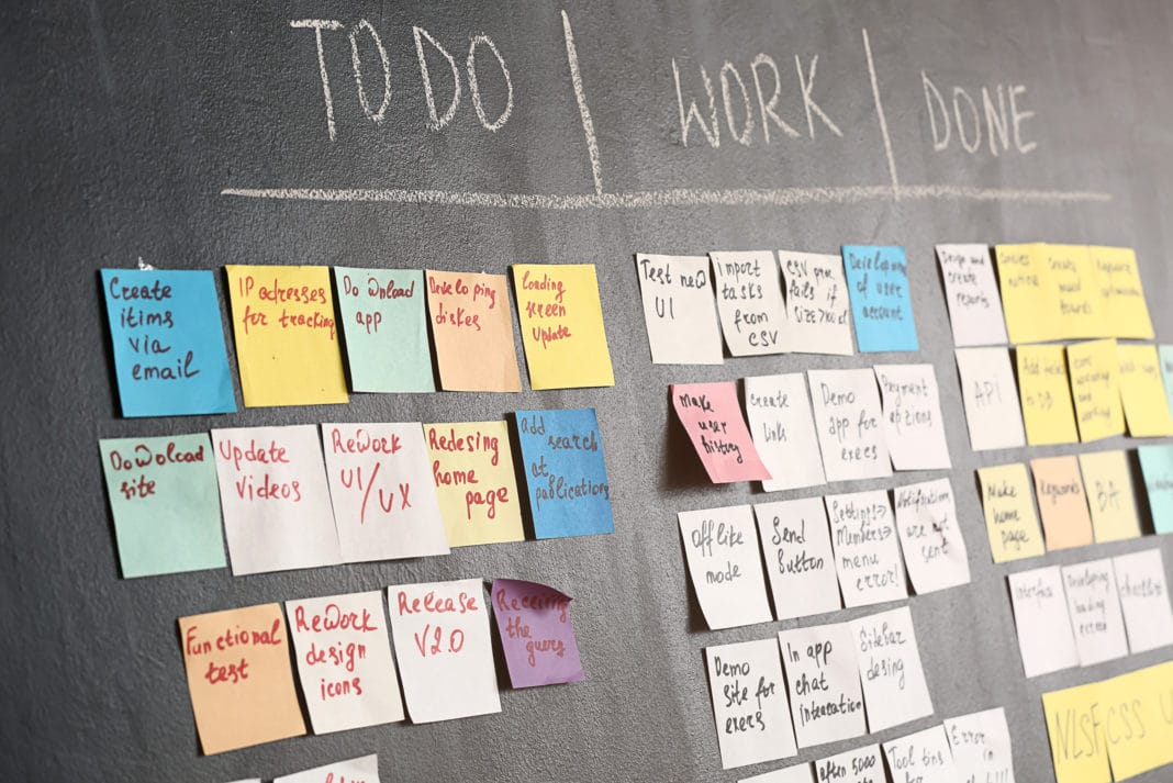 Chalkboard Diy Post It Task Management To Do Work