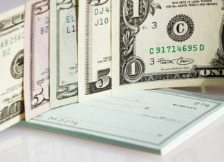 Checkbook Cash Banknotes Us Dollars