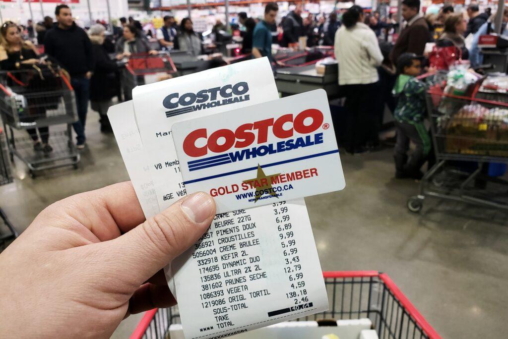 Costco Receipt Membership Card Gold Member