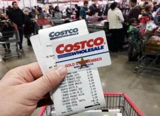 Costco Receipt Membership Card Gold Member