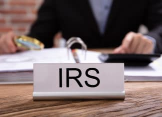 Irs Internal Revenue Services Desk Magnifying Glass