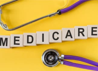 Medicare Cube Letters Stethoscope
